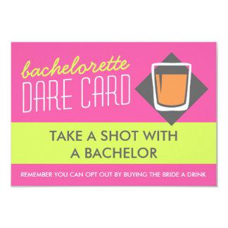 Fun Bachelorette DARE game card - take a shot