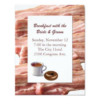 Fun Bacon Wedding Breakfast Invitation