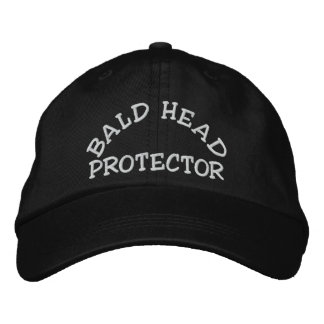 Fun Bald Head Protector Device Embroidered Baseball Hat
