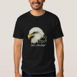 "Fun ""Bald is Beautiful"", Bald Eagle Bird Tee Shirt"