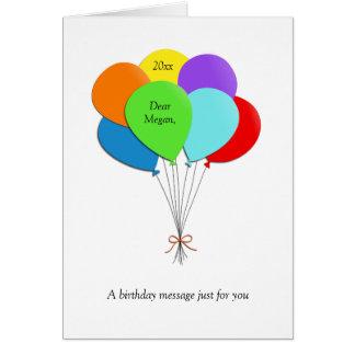 Fun Balloons-Happy 30th Birthday Greeting Card