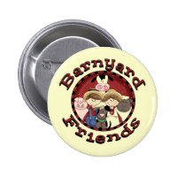 Fun Barnyard Friends Pin Button
