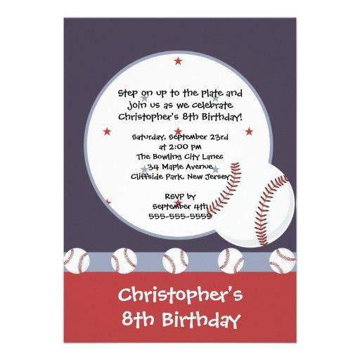 personalized baseball birthday invitations  custominvitationsu, Birthday invitations