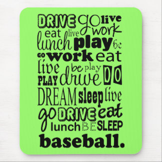 Fun Baseball Sports Living Mouse Pad