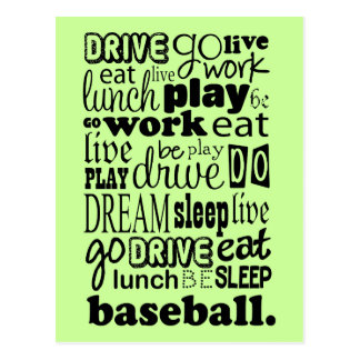 Fun Baseball Sports Living Postcard