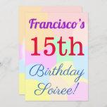 "[ Thumbnail: Fun, Basic ""15th Birthday Soiree!"" Invitation ]"