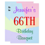 "[ Thumbnail: Fun, Basic ""66th Birthday Banquet"" Invitation ]"