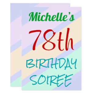 Fun Basic 78th BIRTHDAY SOIREE Invitation