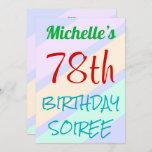 "[ Thumbnail: Fun, Basic ""78th Birthday Soiree"" Invitation ]"