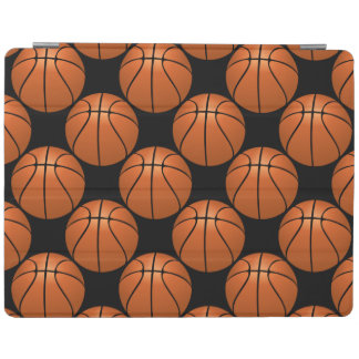 Fun Basketball Ball Pattern on Black iPad Cover
