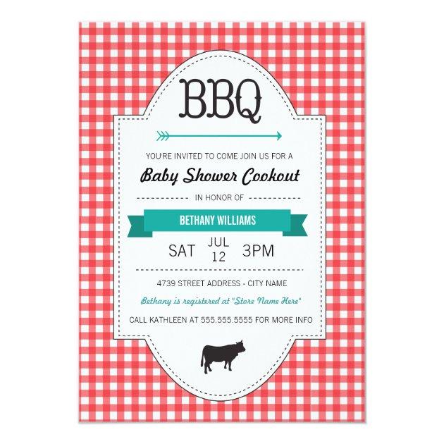 fun bbq baby shower invite at zazzle