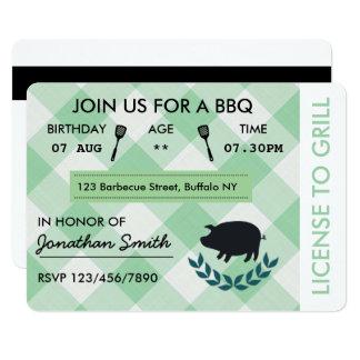 Fun BBQ Barbecue Birthday Party Invitation