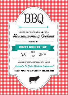 Fun BBQ Housewarming Invite