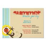 Fun Beach Holiday Palm Trees Summer Party Invite Invite