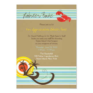 Fun Beach Holiday Summer Lobster Bake Party Invite