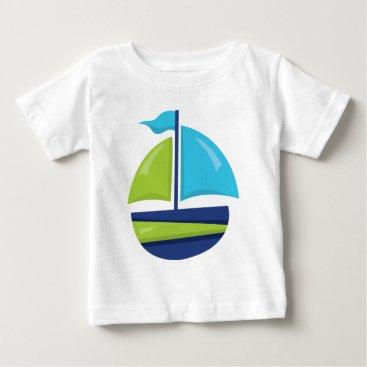 Beach Themed Fun Beach sailboat baby boys t-shirt