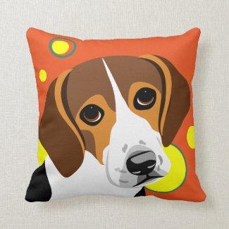 Fun Beagle Art Gifts Pillow