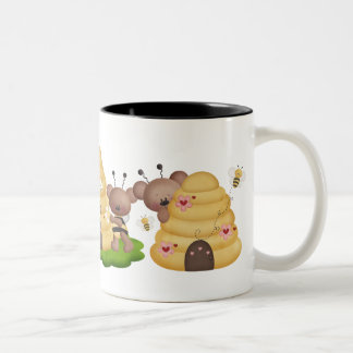 Fun Bear bee cartoon coffee mug