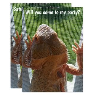 Fun Bearded Dragon Birthday Party Invitation