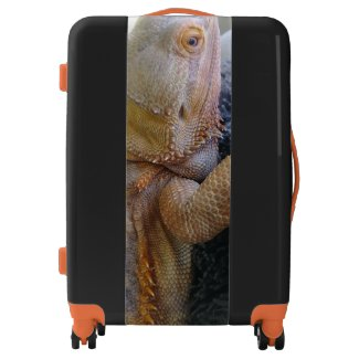 Fun Bearded Dragon up Close Photo Print Luggage