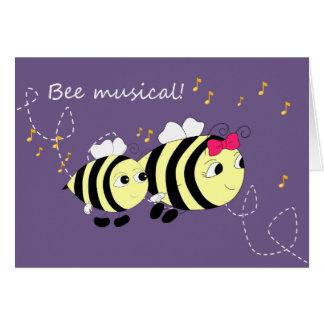 Fun Bee Animal Music Card