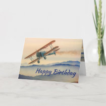 Fun Bi-Plane From One Vintage Model to another Card
