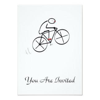 Fun Bicyclist Design Card