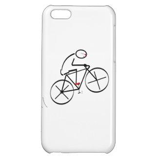 Fun Bicyclist Design iPhone 5C Covers