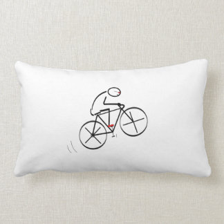 Fun Bicyclist Design Lumbar Pillow