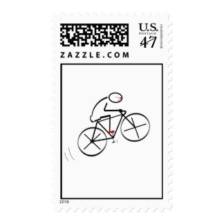 Fun Bicyclist Design Postage Stamp