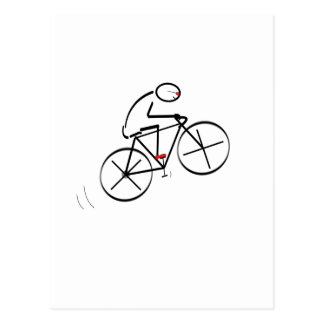 Fun Bicyclist Design Postcard