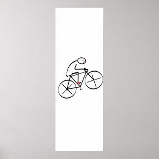 Fun Bicyclist Design Print