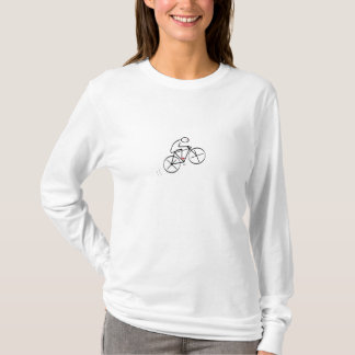 Fun Bicyclist Design T-Shirt