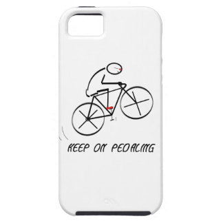 """Fun Bicyclist Design with """"Keep On Pedaling"""" text iPhone SE/5/5s Case"""