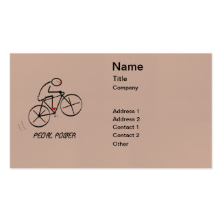 """Fun Bicyclist Design with """"Pedal Power"""" text Business Card"""