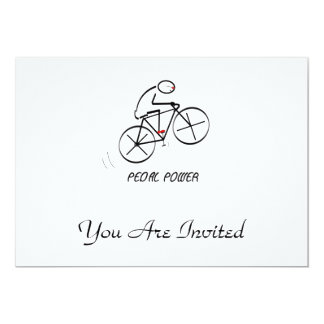 """Fun Bicyclist Design with """"Pedal Power"""" text Card"""