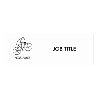 """Fun Bicyclist Design with """"Pedal Power"""" text Mini Business Card"""