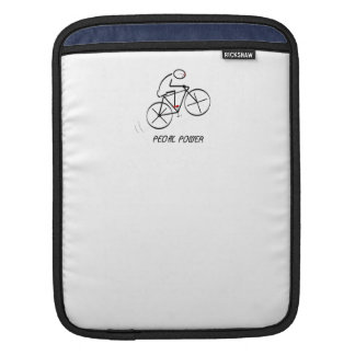 """Fun Bicyclist Design with """"Pedal Power"""" text Sleeve For iPads"""