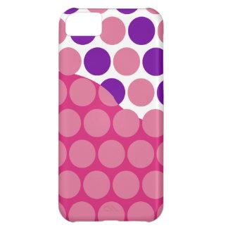 Fun Big Pink and Purple Polka Dots Wave Pattern iPhone 5C Case