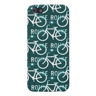 Fun Bike Route Fixie Bicycle Cyclist Pattern Cover For iPhone SE/5/5s
