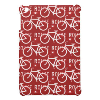 Fun Bike Route Fixie Bicycle Cyclist Pattern Red Cover For The iPad Mini