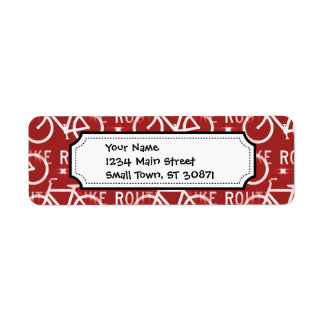 Fun Bike Route Fixie Bicycle Cyclist Pattern Red Label