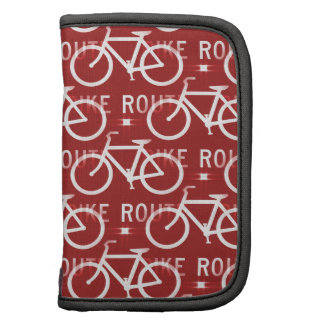 Fun Bike Route Fixie Bicycle Cyclist Pattern Red Planners