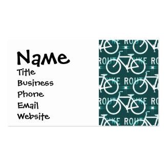 Fun Bike Route Fixie Bike Cyclist Pattern Business Card Template