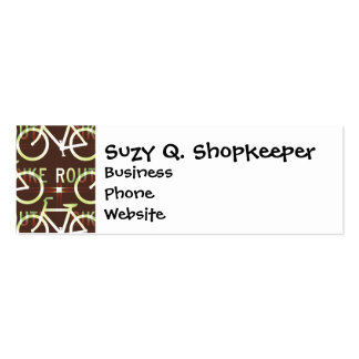 Fun Bike Route Fixie Bike Cyclist Pattern Double-Sided Mini Business Cards (Pack Of 20)