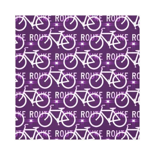 Fun Bike Route Fixie Bike Cyclist Pattern Canvas Prints