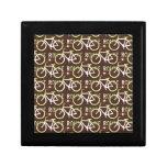 Fun Bike Route Fixie Bike Cyclist Pattern Keepsake Box