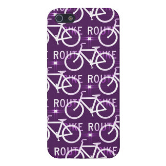 Fun Bike Route Fixie Bike Cyclist Pattern iPhone SE/5/5s Cover