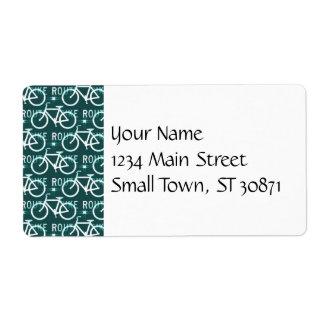 Fun Bike Route Fixie Bike Cyclist Pattern Label