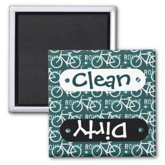Fun Bike Route Fixie Bike Cyclist Pattern Magnet